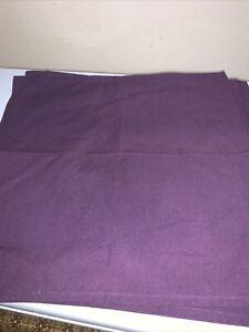 "Lot of 4 Purple Cloth Napkins 19"" X 19"" Square"