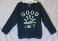 Girls Next Grey Green Good Vibes Soft Spun Feel Sweater Jumper Age 5 Years