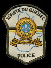 Surete Du Quebec Police Canada Patch S-24