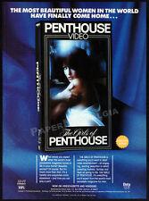 THE GIRLS OF PENTHOUSE__Original 1985 video Print AD / promo__BRINKE STEVENS