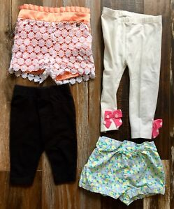 4 Piece LOT Girl Bottoms Size 18m