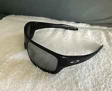 "Nice Oakley Polarized Turbine Sunglasses Pol Black / Custom Chrome w/ Silver ""O"""