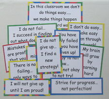 12 Educational Resource Growth Mindset Anchor Chart Bullentin Board Posters
