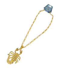 Large Gold Plated Scorpio Bling Pendant with Necklace Chain(JN-SCONE-G)