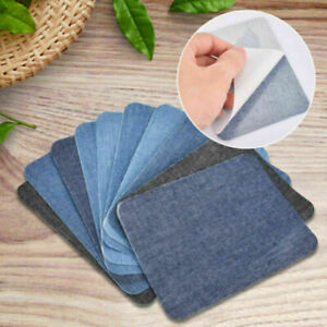 12pcs Decoration For Clothing DIY Jeans Repair Denim Patches Iron On Washable