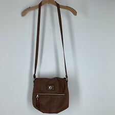 Beautiful RELIC Brown  Leather Saddle Bag Crossbody Handbag Adjustable Strap