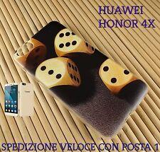 Cover in gomma di silicone per Smartphone Huawei Honor 4X DADI DA GIOCO