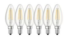 6er-pack OSRAM LED base Classic b40 e14 filament 2700k 4w comme 40w Bougies Lampe