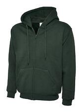Uneek UC504 Unisex Classic Full Zip Hooded Sweatshirt Hoodie Hood Sweat ZIPPED Bottle Green 3xl