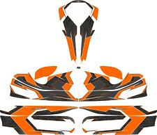 Tribal Orange custom full Kart Sticker Kit-Karting-GO Kart-jakedesigns
