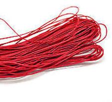 10 Metri Corda Cordoncino Filo Cerato Rosso per Bigiotteria 1mm dia