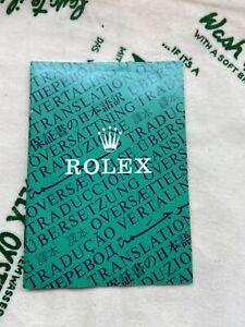 Vintage 1988 Rolex  Warranty Translation Booklet