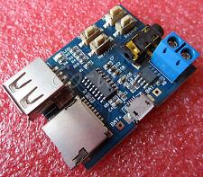 2PCS TF/U disk MP3 decoder board MP3 module MP3 amplifier MP3 Player top new
