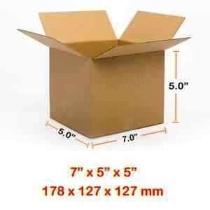 """SINGLE WALL POSTAL MAILING CARDBOARD BOX 7""""x5""""x5""""CHEAPEST Fast&Free Delivery"""