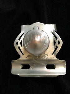 Aluminum inkwell, vintage, Art Deco, Unusual