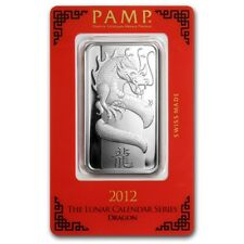 1~OUNCE ~ PURE .999 SILVER ~ YEAR of the DRAGON ~ PAMP SUISSE ~SEALED BAR~ $9.99