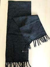 SAARC Men's Dark Gray Pure New Wool Knit Fringed Scarf Wrap