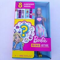 Barbie You Can Be Anything 8 Surprises Inside Blonde Doll Set New In Box