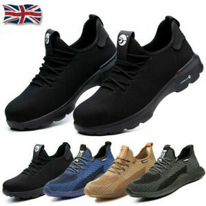 Mens Womens SAFETY Steel Toe Cap Shoes Trainers Work Boots Sports Hiking UK 3-13