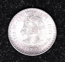 1947 - Mexican silver coin - Cuauhtemoc 5 Cinco Pesos.