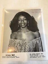 1980 8 x 10 Photo Signed Autographed Singer ARLENE BELL b
