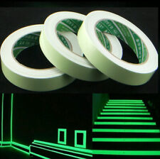 Glow In The Dark Luminous Fluorescent Night Self-adhesive Safety Sticker Tape kq