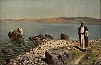 Genezareth Génésareth Israel Jisra'el ~1920/30 Gemälde Painting See ungelaufen