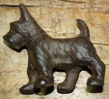 Cast Iron Scottie Dog Doorstop Statue Papper Weight Schnauzer Dogs Garden