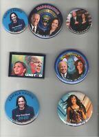7 KAMALA HARRIS pinback Campaign 2020 2021 INAUGURATION pin Joe BIDEN