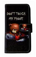 Non Toccare Mio Telefono Orso Custodia Cellulare Apple IPHONE 7/8 Pieghevole