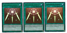 Yugioh 3 X (3 Karten) Verräterische Schwerter YGLD-DEB017, Ultra Rare, Mint