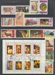 Dhufar (Oman) - 94no. different stamps (CV $?)