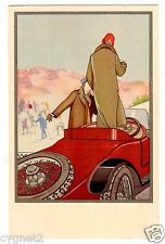 POSTCARD ITALIAN PIRELLI RAINCOATS AND AUTOMOBILE TIRES