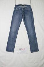Levi's 524 TOO SUPERLOW usato (Cod.B369) Tg. 0 M denim jeans donna vita bassa