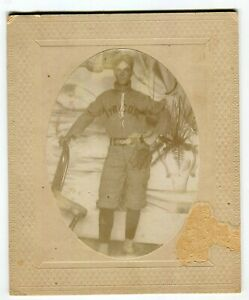 Antique c1900 Syracuse University Baseball Player Cabinet Card Photograph