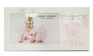 For Arts Sake E1 Baby Girl Pink 4inx6in Photo Frame - Clothes Line HP-WG0370K-46