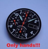 HANDS SET FOR ETA VALJOUX 7750 Automatic Chronograph MADE IN GERMANY Orange NEW