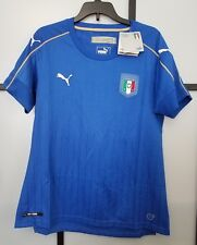 Italy Puma Women's 2016 Home Shirt Jersey - Blue/White Size Large