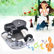Mechanical DIY Tune Hand Crank 18 Notes Music Box Movement+Screws+Key Set Parts
