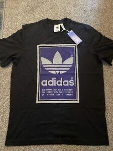 BNWT Adidas Mens Black T-shirt. Size Medium.