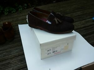 GRENSON MARSELL BROWN SUEDE TASSELL LOAFERS WITH BOX SIZE 9 EU 43