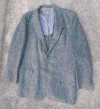 vintage men's Harris Tweed gray charcoal diagonal weave  blazer  size 42 R