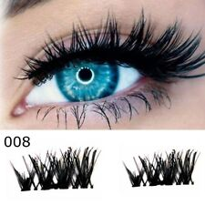 2 Pairs Magnetic Eyelashes 3D Reusable False Magnet Eye Thick Lashes Extension