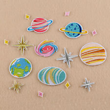 16pcs Planet Applique Embroidered Sew Iron on Patches Star Badge Dress Cloth DIY