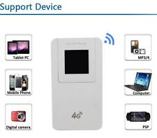 Unlocked 4G LTE Wireless Router Wifi Modem With SIM Card Slot 4600mAh Power bank