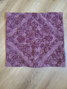 """Pottery Barn """"Washed Raised Textured - Purple"""" 18"""" Pillow Cover"""