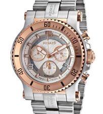 New Mens Renato Beast Diver Swiss 5030D Rose Gold Bezel 45mm Watch Extra Strap