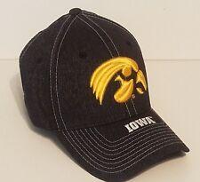 low priced 24e52 caf3c IOWA HAWKEYES ZEPHYR CENTER COURT DARK GRAY FLEX FIT FITTED HAT CAP NEW XL