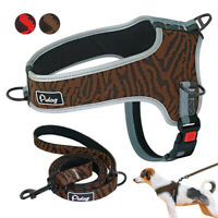 No Pull Front Clip Dog Harness&Leads Adjustable Reflective Padded Vest M L XL