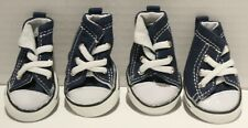 Petrich Dog Denim Lace Up Anti-Slip Sneakers Paw Protection Shoes SMALL BREEDS